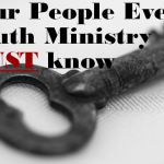 people every Youth Ministry must know